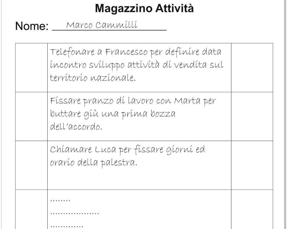 Tecnica del pomodoro - Magazzino Attività - UYM
