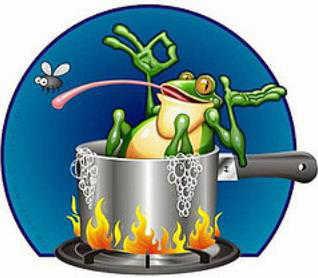 Il principio della rana bollita - cattive abitudini