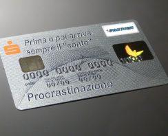 Procrastinare è come utilizzare una carta di credito - uym