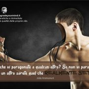 Aforismi motivazionali - Pragonarsi agli altri - uym