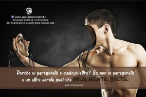 Aforismi per riflettere - Pragonarsi agli altri - uym