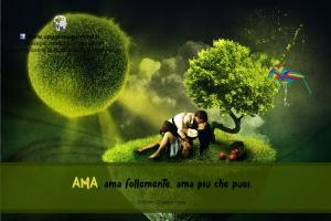Immagini con aforismi per riflettere - Amare - uym